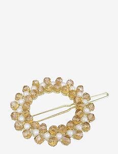Zoella Round Clip Champagne - hår accessories - creme