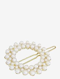 Zoella Round Clip Pearl - hår accessories - white