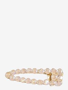 Livia Crystal Clip Pale Pink - hår accessories - pink