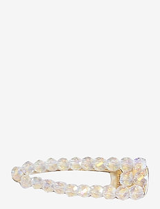 Livia Crystal Clip Clear - hår accessories - white