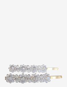 Valentina Crystal Clip Lgt Blue 2 pcs - hår accessories - blue