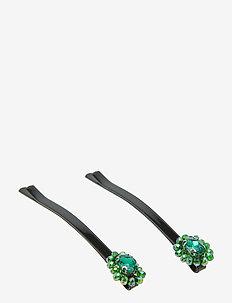 Mandy Hair Clip set Green B - GREEN
