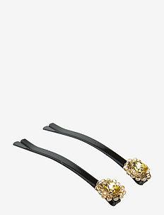Mandy Hair Clip set Yellow B - accessoires - yellow