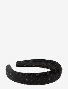 Kiara Diadema Velvet Black B - accessoires - black