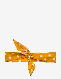 Viva Scarf Polka Dot Yellow B - accessoires - yellow