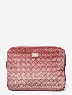 Shell Velvet Logo - laptopväskor - pink