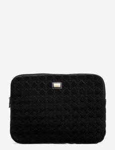Shell Velvet Logo - laptopväskor - black