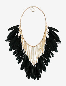 Drama feather Pipols Necklace - GOLD
