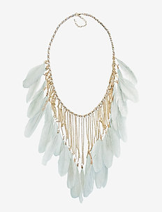Drama Feather PIPOL Necklace Turq - TURQUOISE