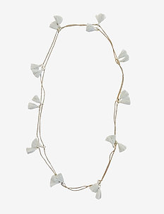 Trippia Tassel Pipols Long Necklace - GREY