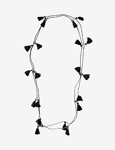 Trippia Tassel Pipols Long Necklace - BLACK