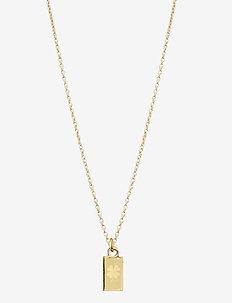 Lucky Tag Nec Gold - kettingen met hanger - gold