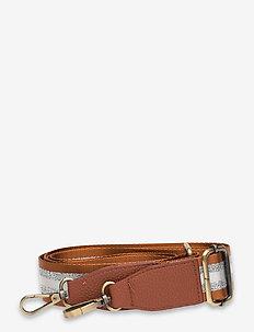 Strap Striped Rusty Brown Silver - bag straps - multi