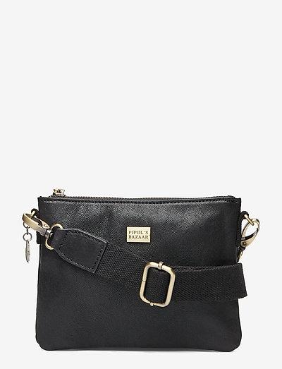 Sweet Mini Cross Leather Bag Black - olkalaukut - black