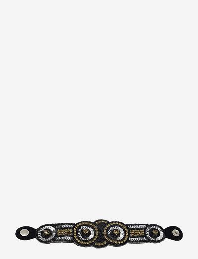Fira Bracelet Golden Black Mix - bangles - multi