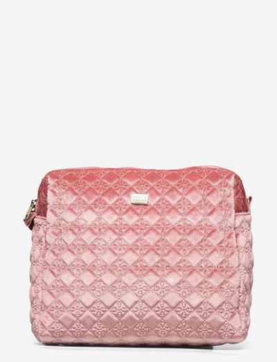 Velvet Logo Big Cosmetic - meikkilaukut - pink