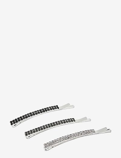 Sia Hair Clip set Black - haar accessoires - black