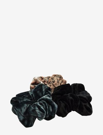 Laine Velvet Schrunchy Set Even Mix - scrunchiet - multi
