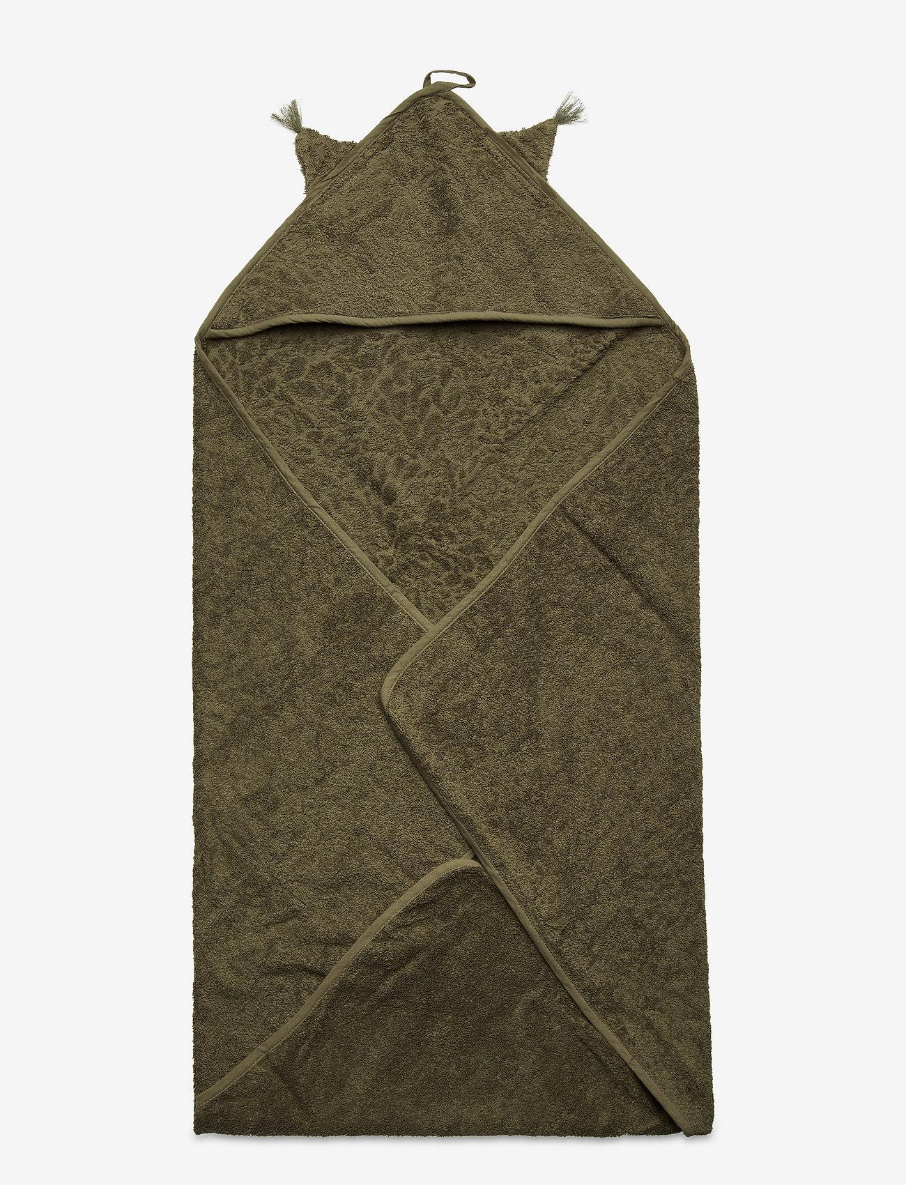 Pippi - Organic hooded towel - akcesoria - deep lichen green - 0