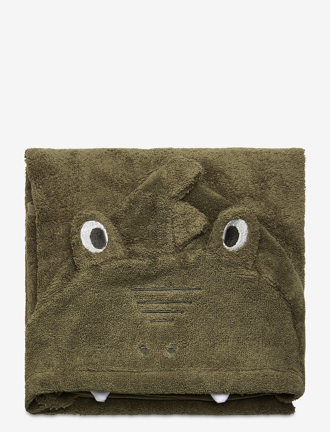 Pippi - Organic hooded bath towel - akcesoria - deep lichen green - 1
