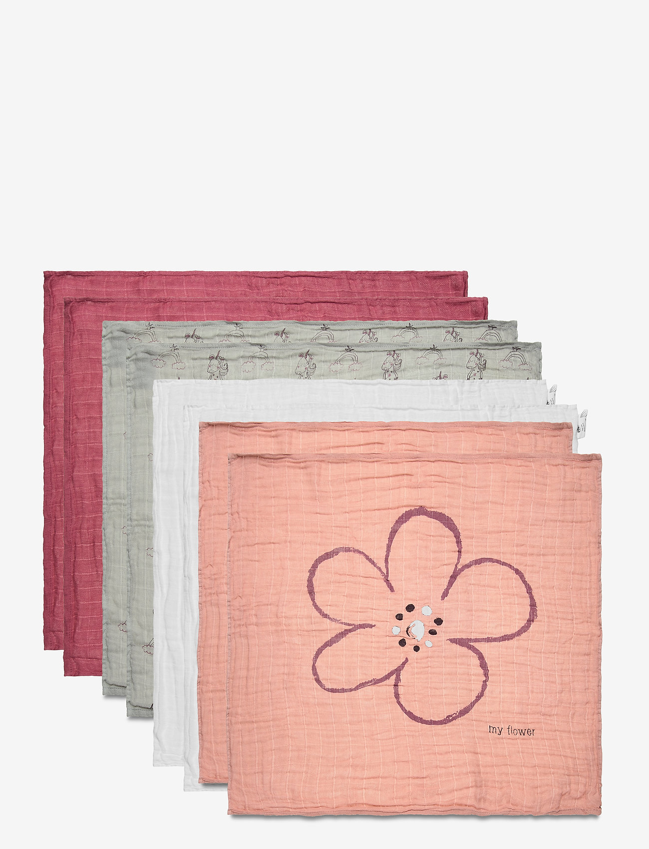 Pippi - Organic cloth Muslin (8-pack) - pieluszki materiałowe - misty rose - 0