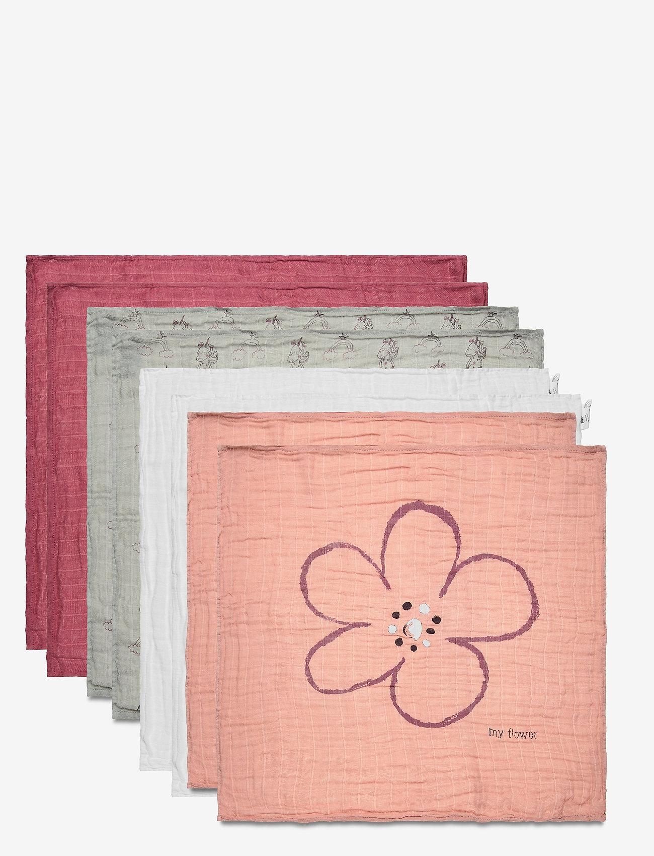 Pippi - Organic cloth Muslin (8-pack) - pieluszki materiałowe - misty rose - 1