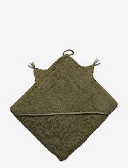 Pippi - Organic hooded towel - akcesoria - deep lichen green - 1