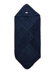 Organic hooded towel - DARK BLUE
