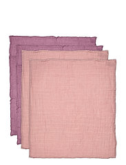 Organic Cloth Muslin -4 pack - PALE MAUVE