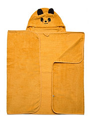 Organic hooded bath towel - MINERAL YELLOW