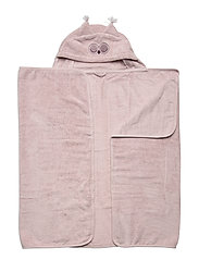 Organic hooded bath towel - VIOLET ICE