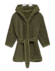 Organic bath robe - DEEP LICHEN GREEN