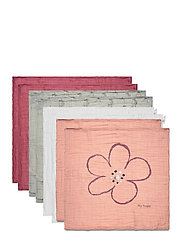 Organic cloth Muslin (8-pack) - MISTY ROSE