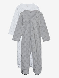 Nightsuit w/f -buttons 2-pack - pajacyki do spania - harbor mist