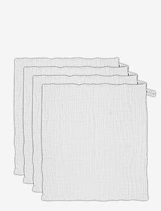 Organic Cloth Muslin -4 pack - akcesoria - white-101