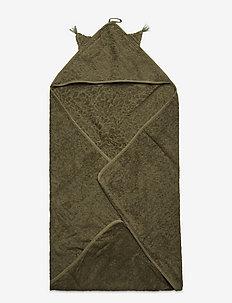 Organic hooded towel - akcesoria - deep lichen green