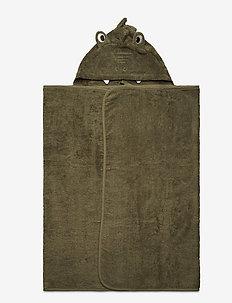 Organic hooded bath towel - akcesoria - deep lichen green