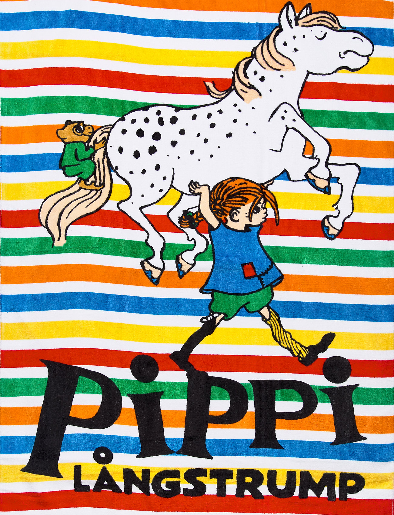 Pippi Långstrump - PIPPI STRIPES TOWEL - akcesoria - multi-colored - 0