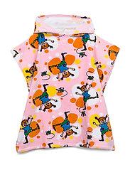 PIPPI  CARTWHEEL PONCHO TOWEL - ROSE