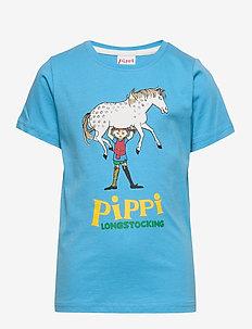 PIPPI T-SHIRT ENG NEW BLUE - BLUE