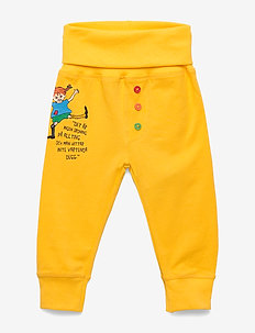 QUOTE PANTS - spodnie - yellow