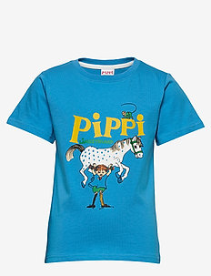 PIPPI T-SHIRT SWE - krótki rękaw - blue