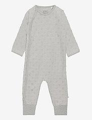 Suit LS-velour jaquard - GREY MELANGE