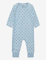 Pippi - Suit LS-velour jaquard - langärmelig - smoke blue malange - 0