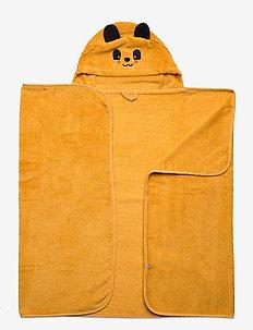 Organic hooded bath towel - bademode - mineral yellow