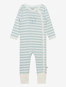 Jumpsuit LS, w.YD Stripe - STERLING BLUE