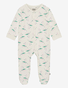 Nightsuit w.foot &  AOP - PRIMROSE PINK