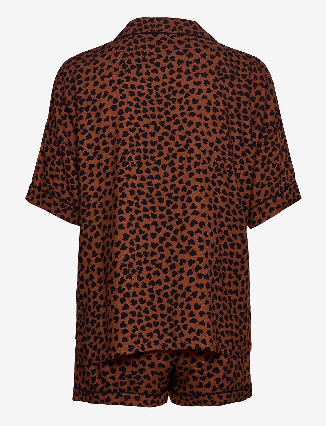 PJ Salvage - Pyjama Short - pyjama''s - brown - 1
