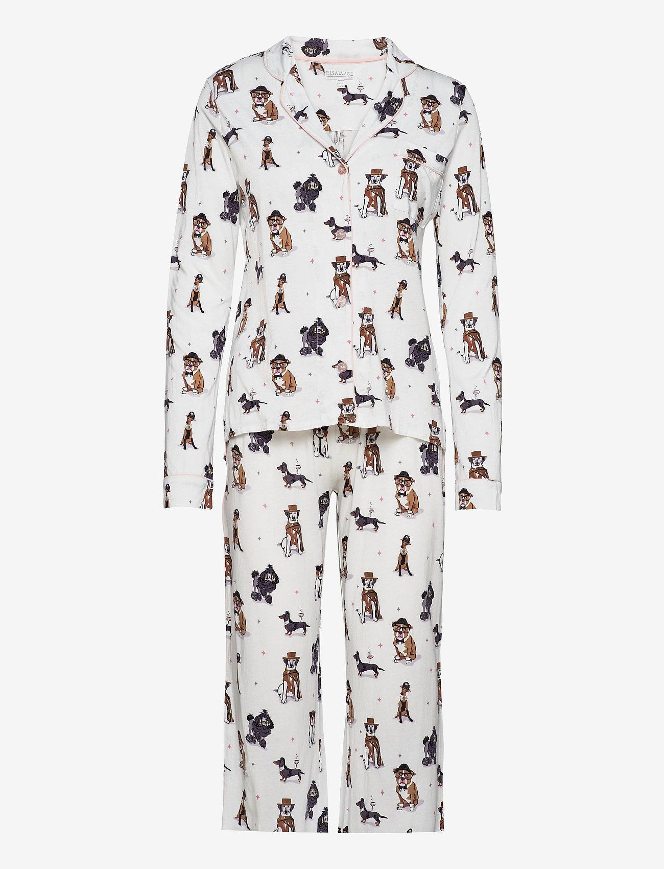 PJ Salvage - Pyjama Long - pyjama''s - off-white - 0
