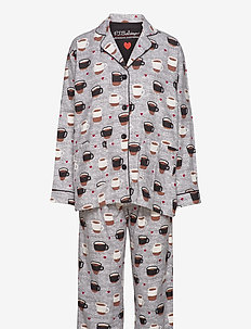 Pyjama Long - pyjamas - grey melange